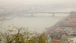 Foggy River Danube Aerial