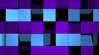 Folding Square Stripe Transition Purple & Blue