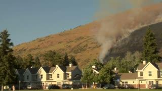 Forest Fire Burns Near Neighborhood