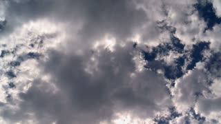 Forming Clouds In Blue Sky Timelapse