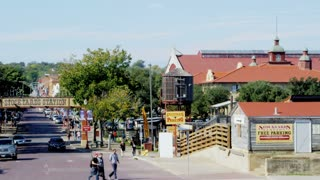 Fort Worth Stockyards Establishing Shot