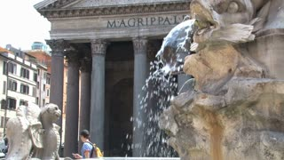 Fountain in Front of the Pantheon 2