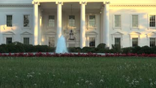 Fountain in Front Yard of the White House