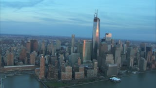 Freedom Tower Early Morning Aerial