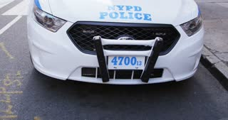 Front View of NYPD Patrol Car