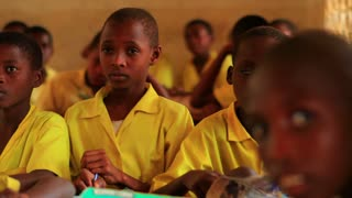 Front View of School Boys in Class in Kenya 8