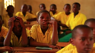 Front View of School Boys in Class in Kenya