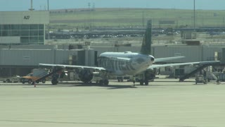 Frontier Airlines Plane at Airport