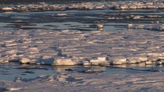 Frozen Ice Tidal Mud Flats