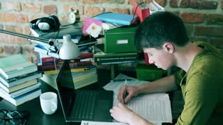 Frustrated student having problems with homework