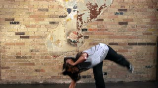 Full Body Shot of Young Woman Hip Hop Dancing in Slow Motion 2