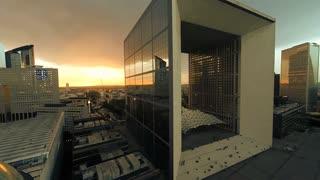 futuristic architecture. modern buildings. cityscape
