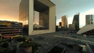 futuristic artistic architecture. skyscrapers cityscape. modern buildings