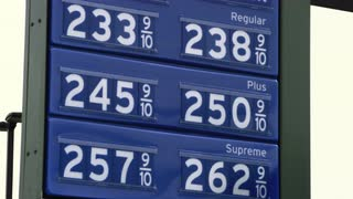 Gas Prices Listed on Sign 2