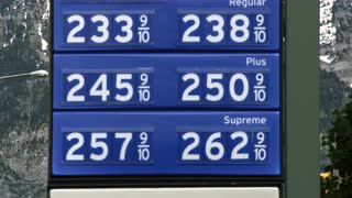 Gas Prices Listed on Sign