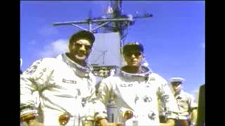 Gemini 11 Astronauts Getting Their Pictures Taken
