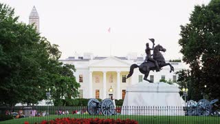 General Jackson Statue Outside White House