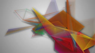 geometric shapes color abstract motion background