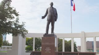 George B. Dealey Statue in Dallas Texas
