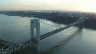 George Washington Bridge with Long View of the Hudson