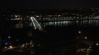 Georgetown Aerial and Bridge at Night 1