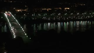 Georgetown Aerial and Bridge at Night 2