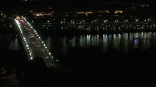 Georgetown Aerial and Bridge at Night 4