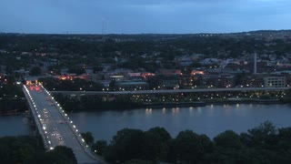 Georgetown Skyline and Bridge at Twilight