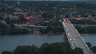 Georgetown University and Bridge at Twilight