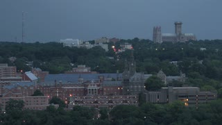 Georgetown university and National Cathedral at Twilight