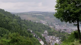 German Country Town Oberwesel from Hill