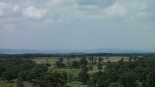 Gettysburg Battlefield Clouds Wide