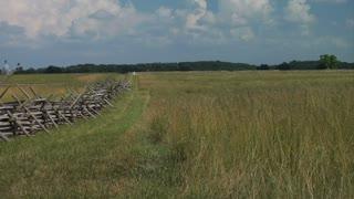 Gettysburg Battlefield Pan To Clouds