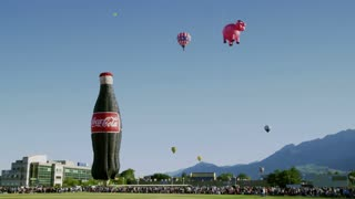 Giant Inflatable Coca Cola Bottle and Hot Air Balloons 2