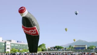 Giant Inflatable Coca Cola Bottle and Hot Air Balloons 3
