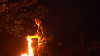Girl Dancing With Fire