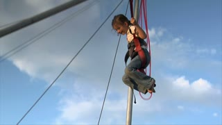 Girl On Bungee Chair