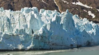 Glacier By Alaskan Mountainside