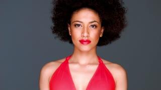 Glamorous elegant African American lady