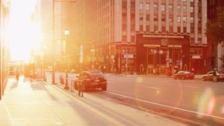 Glaring Sidewalk Sun