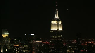 Gliding by Empire State Building at Night 2