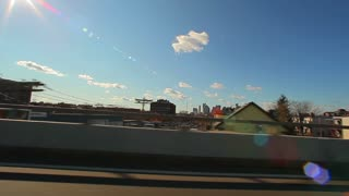 Glimpse of Boston Skyline From Highway 1