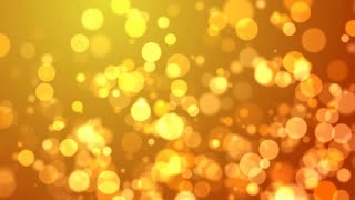 Glowing Golden Particles