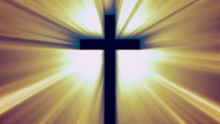 Glowing Lit Cross