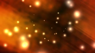 Glowing Orange Particles