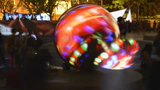 Glowing Sphere VJ Event