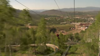 Going Down A Mountain Zipline