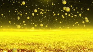 Golden Abstract Space Creative Background