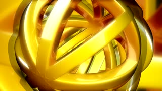 Golden Ball Shape Spinning Randomly
