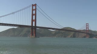 Golden Gate Bridge From Bay Timelapse